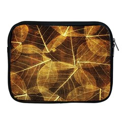Leaves Autumn Texture Brown Apple Ipad 2/3/4 Zipper Cases by Simbadda