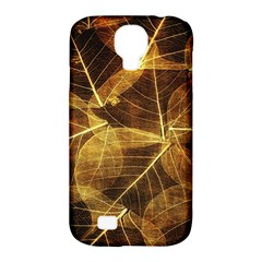 Leaves Autumn Texture Brown Samsung Galaxy S4 Classic Hardshell Case (pc+silicone) by Simbadda
