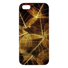 Leaves Autumn Texture Brown Iphone 5s/ Se Premium Hardshell Case by Simbadda