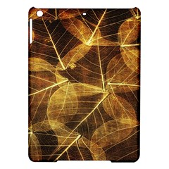 Leaves Autumn Texture Brown Ipad Air Hardshell Cases by Simbadda