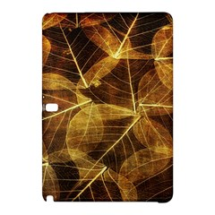 Leaves Autumn Texture Brown Samsung Galaxy Tab Pro 10 1 Hardshell Case by Simbadda