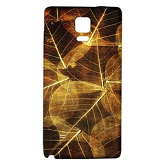 Leaves Autumn Texture Brown Galaxy Note 4 Back Case by Simbadda