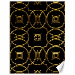 Black And Gold Pattern Elegant Geometric Design Canvas 18  X 24   by yoursparklingshop