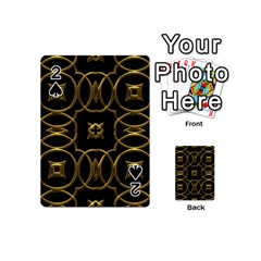 Black And Gold Pattern Elegant Geometric Design Playing Cards 54 (mini)  by yoursparklingshop