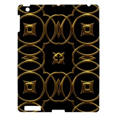 Black And Gold Pattern Elegant Geometric Design Apple Ipad 3/4 Hardshell Case by yoursparklingshop