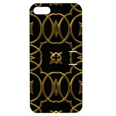 Black And Gold Pattern Elegant Geometric Design Apple Iphone 5 Hardshell Case With Stand by yoursparklingshop