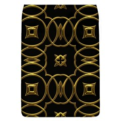Black And Gold Pattern Elegant Geometric Design Flap Covers (l)  by yoursparklingshop