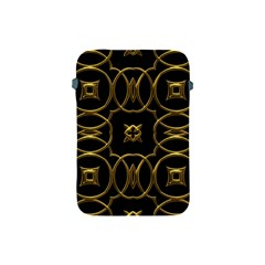 Black And Gold Pattern Elegant Geometric Design Apple Ipad Mini Protective Soft Cases by yoursparklingshop