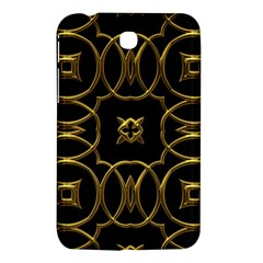 Black And Gold Pattern Elegant Geometric Design Samsung Galaxy Tab 3 (7 ) P3200 Hardshell Case  by yoursparklingshop