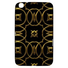 Black And Gold Pattern Elegant Geometric Design Samsung Galaxy Tab 3 (8 ) T3100 Hardshell Case  by yoursparklingshop