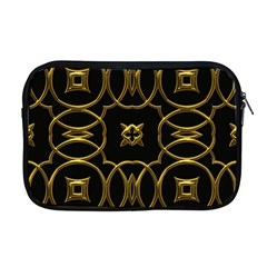 Black And Gold Pattern Elegant Geometric Design Apple Macbook Pro 17  Zipper Case by yoursparklingshop
