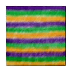 Mardi Gras Strip Tie Die Tile Coasters by PhotoNOLA