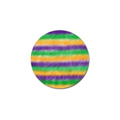 Mardi Gras Strip Tie Die Golf Ball Marker (10 Pack) by PhotoNOLA