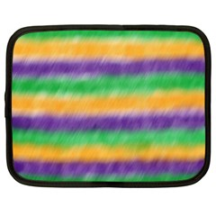 Mardi Gras Strip Tie Die Netbook Case (xl)  by PhotoNOLA