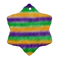 Mardi Gras Strip Tie Die Snowflake Ornament (two Sides) by PhotoNOLA