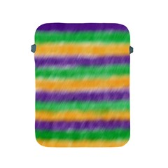 Mardi Gras Strip Tie Die Apple Ipad 2/3/4 Protective Soft Cases by PhotoNOLA