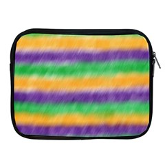 Mardi Gras Strip Tie Die Apple Ipad 2/3/4 Zipper Cases by PhotoNOLA