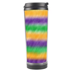 Mardi Gras Strip Tie Die Travel Tumbler by PhotoNOLA