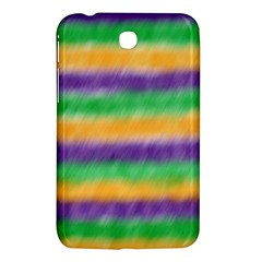 Mardi Gras Strip Tie Die Samsung Galaxy Tab 3 (7 ) P3200 Hardshell Case  by PhotoNOLA