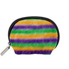 Mardi Gras Strip Tie Die Accessory Pouches (small)  by PhotoNOLA