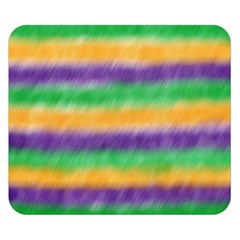 Mardi Gras Strip Tie Die Double Sided Flano Blanket (small)  by PhotoNOLA