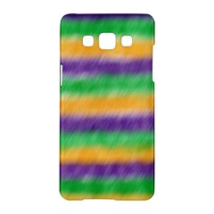 Mardi Gras Strip Tie Die Samsung Galaxy A5 Hardshell Case  by PhotoNOLA