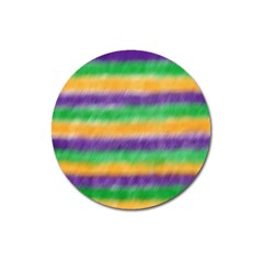 Mardi Gras Strip Tie Die Magnet 3  (round) by PhotoNOLA