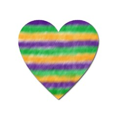 Mardi Gras Strip Tie Die Heart Magnet by PhotoNOLA