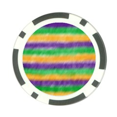 Mardi Gras Strip Tie Die Poker Chip Card Guard (10 Pack) by PhotoNOLA