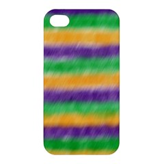 Mardi Gras Strip Tie Die Apple Iphone 4/4s Hardshell Case by PhotoNOLA