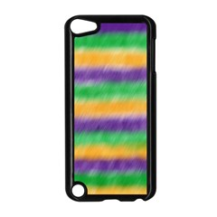 Mardi Gras Strip Tie Die Apple Ipod Touch 5 Case (black) by PhotoNOLA