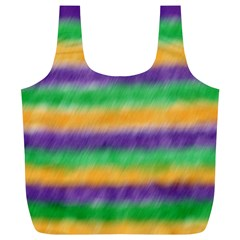 Mardi Gras Strip Tie Die Full Print Recycle Bags (l)  by PhotoNOLA