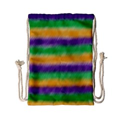 Mardi Gras Strip Tie Die Drawstring Bag (small) by PhotoNOLA