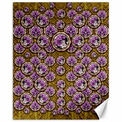 Gold Plates With Magic Flowers Raining Down Canvas 16  X 20   by pepitasart