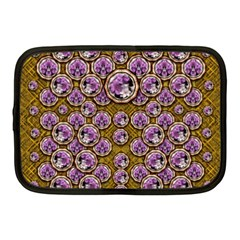 Gold Plates With Magic Flowers Raining Down Netbook Case (medium)  by pepitasart
