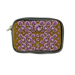 Gold Plates With Magic Flowers Raining Down Coin Purse by pepitasart