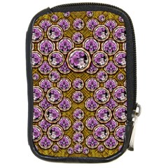 Gold Plates With Magic Flowers Raining Down Compact Camera Cases by pepitasart