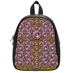 Gold Plates With Magic Flowers Raining Down School Bags (small)