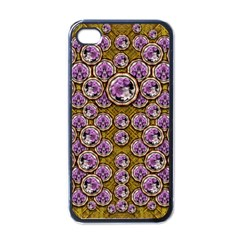 Gold Plates With Magic Flowers Raining Down Apple Iphone 4 Case (black) by pepitasart