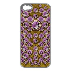 Gold Plates With Magic Flowers Raining Down Apple Iphone 5 Case (silver) by pepitasart