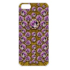 Gold Plates With Magic Flowers Raining Down Apple Iphone 5 Seamless Case (white) by pepitasart