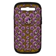 Gold Plates With Magic Flowers Raining Down Samsung Galaxy S Iii Hardshell Case (pc+silicone) by pepitasart