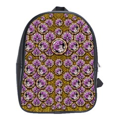 Gold Plates With Magic Flowers Raining Down School Bags (xl)  by pepitasart