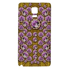 Gold Plates With Magic Flowers Raining Down Galaxy Note 4 Back Case by pepitasart