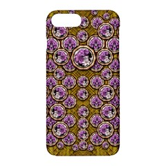 Gold Plates With Magic Flowers Raining Down Apple Iphone 7 Plus Hardshell Case by pepitasart
