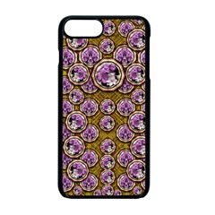 Gold Plates With Magic Flowers Raining Down Apple Iphone 7 Plus Seamless Case (black) by pepitasart