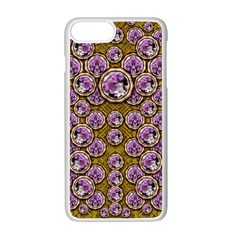 Gold Plates With Magic Flowers Raining Down Apple Iphone 7 Plus White Seamless Case by pepitasart