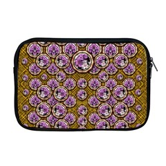Gold Plates With Magic Flowers Raining Down Apple Macbook Pro 17  Zipper Case by pepitasart