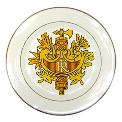 National Emblem Of France  Porcelain Plates by abbeyz71
