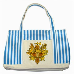 National Emblem Of France  Striped Blue Tote Bag by abbeyz71